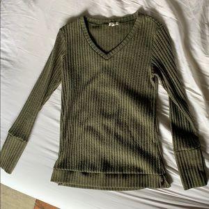 Green V Neck Sweater